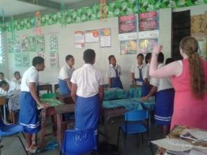 Gap year students in Samoa