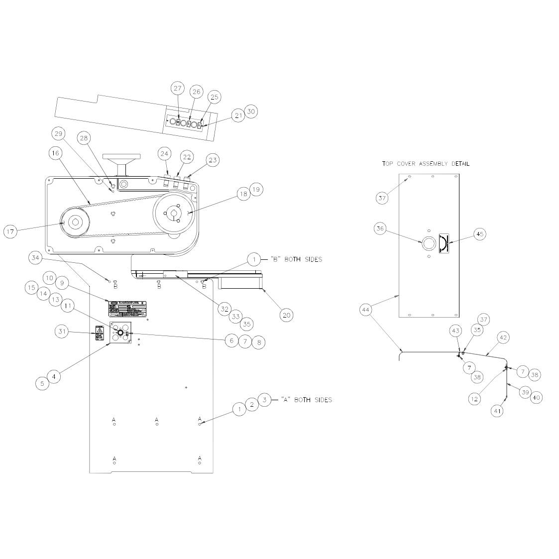 Challenge MS-10B Multiple-Spindle Paper Drill Parts