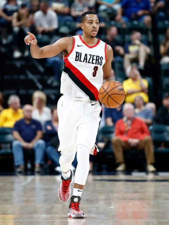 C.J. McCollum of the Portland Trail Blazers during the NBA match against the Pacers, Indianapolis, October 20, 2017 (GETTY IMAGES NORTH AMERICA / AFP / Archives - ANDY LYONS)
