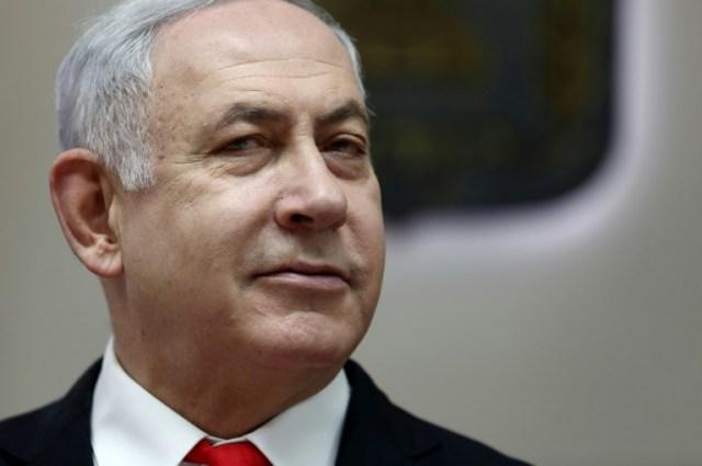 Le Premier ministre israélien Benjamin Netanyahu lors de la réunion hebdomadaire du gouvernement, le 15 décembre 2019 à Jérusalem (POOL/AFP - GALI TIBBON)