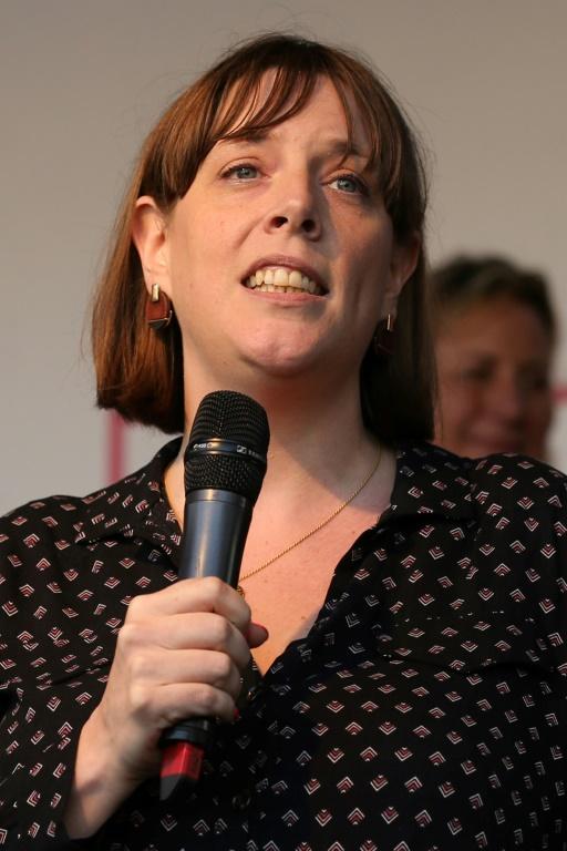 La députée Jess Phillips, ici à Londres le 19 octobre 2019, est citée parmi les candidats possibles à la direction du Labour  (AFP - ISABEL INFANTES)