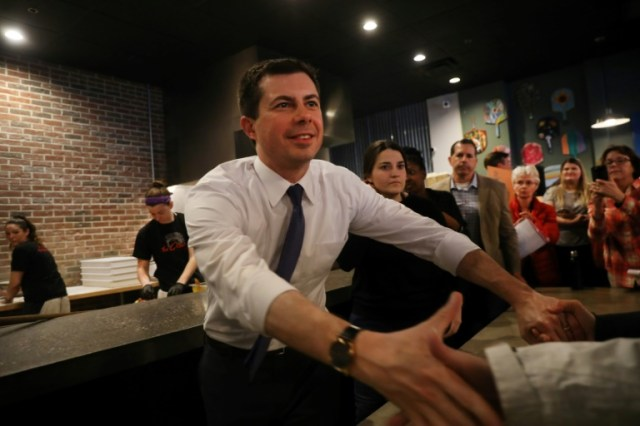 Pete Buttigieg à Manchester (New Hampshire) le 4 février 2020  (GETTY IMAGES NORTH AMERICA/AFP - SPENCER PLATT)