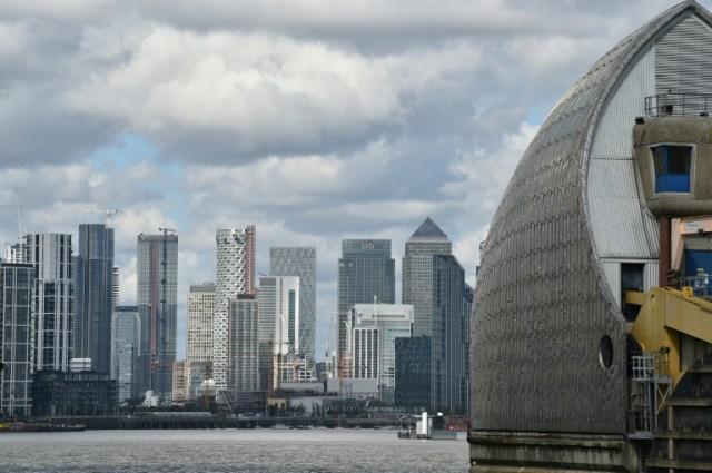 Des tours de bureaux dans le quartier de Canary Wharf, le 14 mai 2020 à Londres (AFP - Glyn KIRK                          )