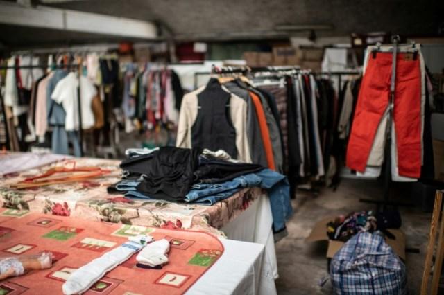 Boutique Emmaüs à Ivry-sur-Seine, le 20 avril 2020 (AFP/Archives - Martin BUREAU)