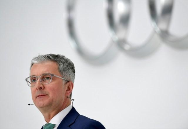 Rupert Stadler, alors patron d'Audi, en mars 2018 au siège du constructeur automobile à Ingolstadt, en Allemagne (AFP/Archives - CHRISTOF STACHE)