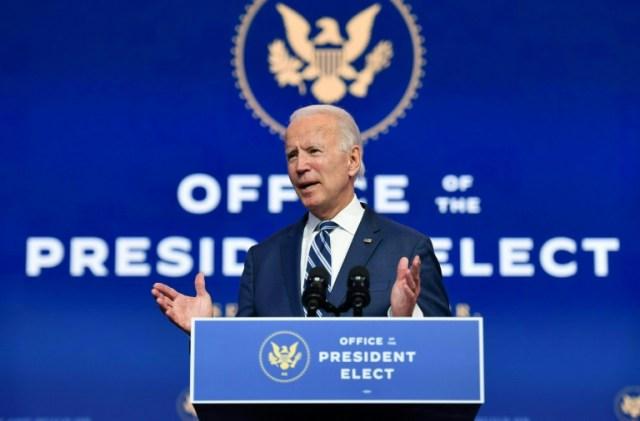 Joe Biden, le 12 novembre 2020 à Wimington, dans le Delaware (AFP - ANGELA WEISS)