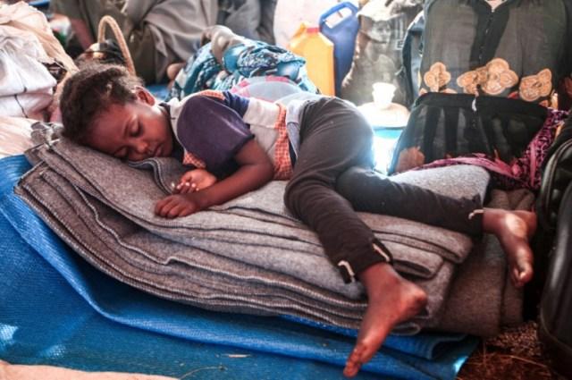 Des Ethiopiens ayant fui les combats dans leur pays, le 16 novembre 2020, dans le camp de réfugiés d'Oum Raquba, dans l'est du Soudan (AFP - Ebrahim HAMID)