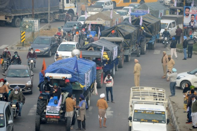 Manifestation d'agriculteurs à Amritsar en Inde en 11 décembre 2020 (AFP - Narinder NANU)