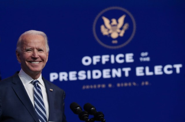 Joe Biden à Wilmington (Delaware), le 10 novembre 2020 (GETTY IMAGES NORTH AMERICA/AFP - JOE RAEDLE)