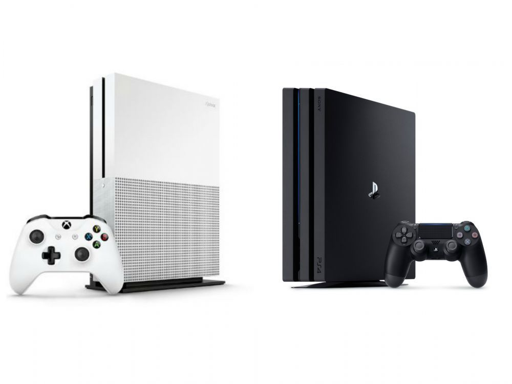 La Xbox One S de Microsoft, PS4 de Sony et Nintendo Switch