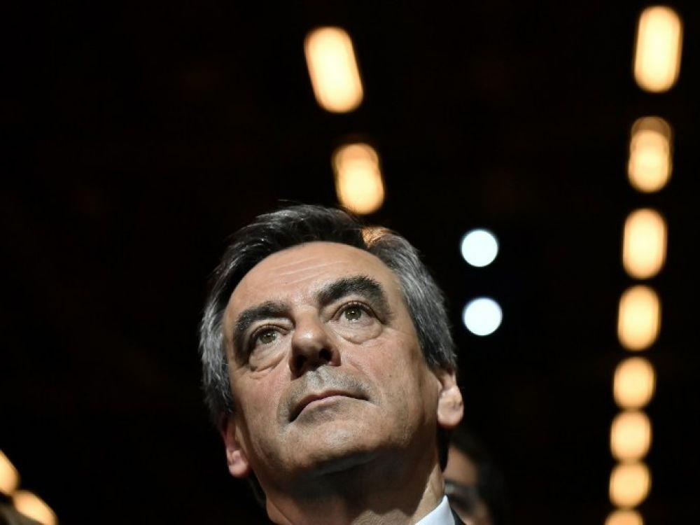 Francois Fillon, lors d'un rassemblement de campagne à Paris, le 25 novembre 2016