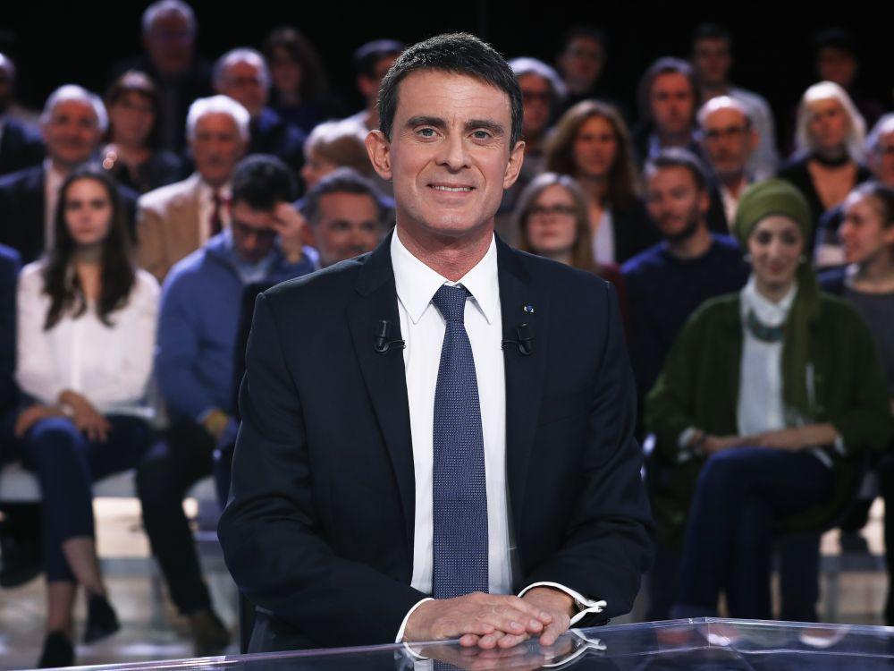 Manuel Valls sur le plateau de L'Emission politique sur France 2 le jeudi 5 janvier.
