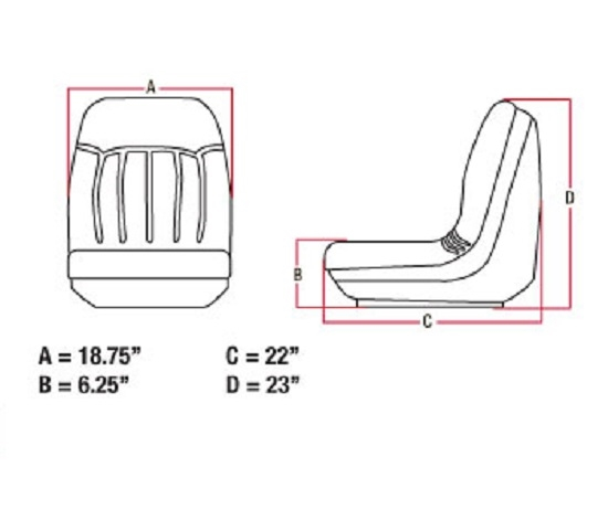 New 6669135 Seat with Tracks for Bobcat 463 542 641 653