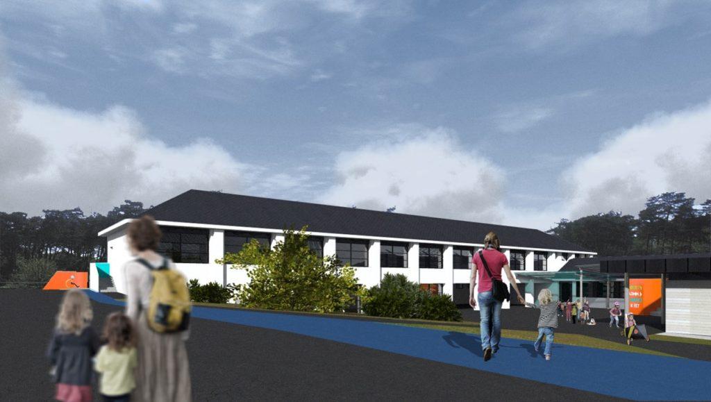 Les futurs bâtiments du groupe scolaire Joubert à Chalonnes-sur-Loire