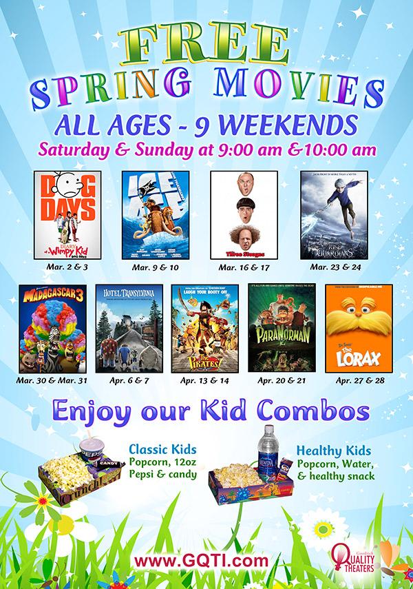 Free Spring Kids Movies At Savoy 16