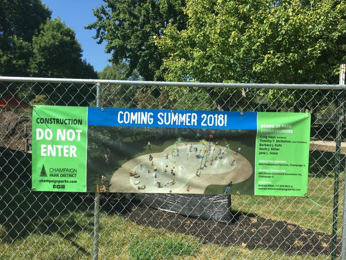New Hessel Park Splash Pad Under Construction