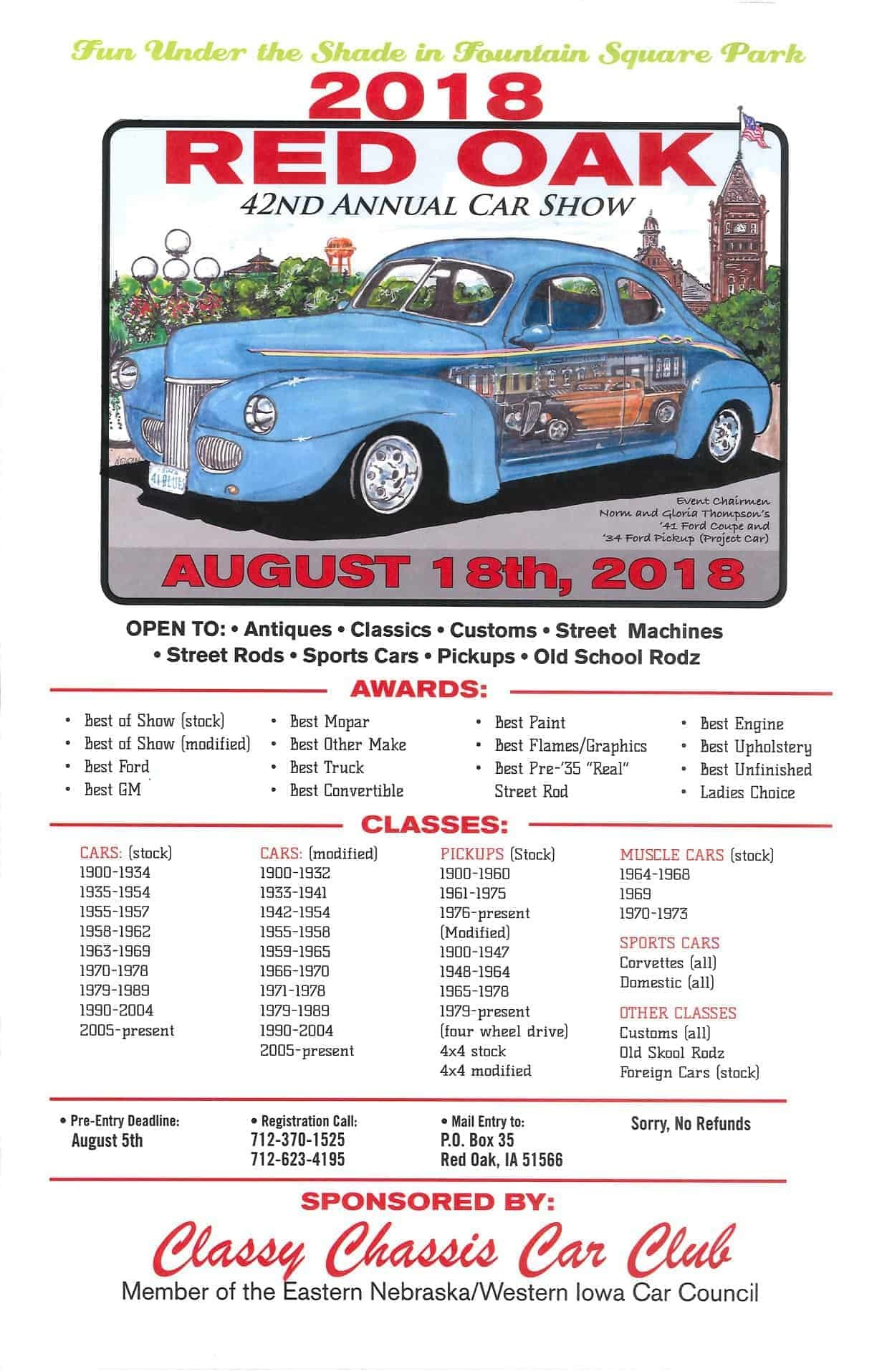 Classy Chassis Car Show 2018