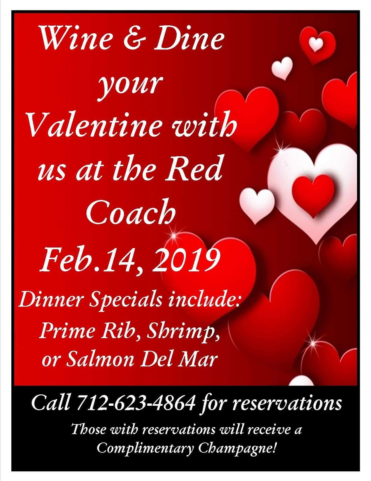 wine and dine your valentine