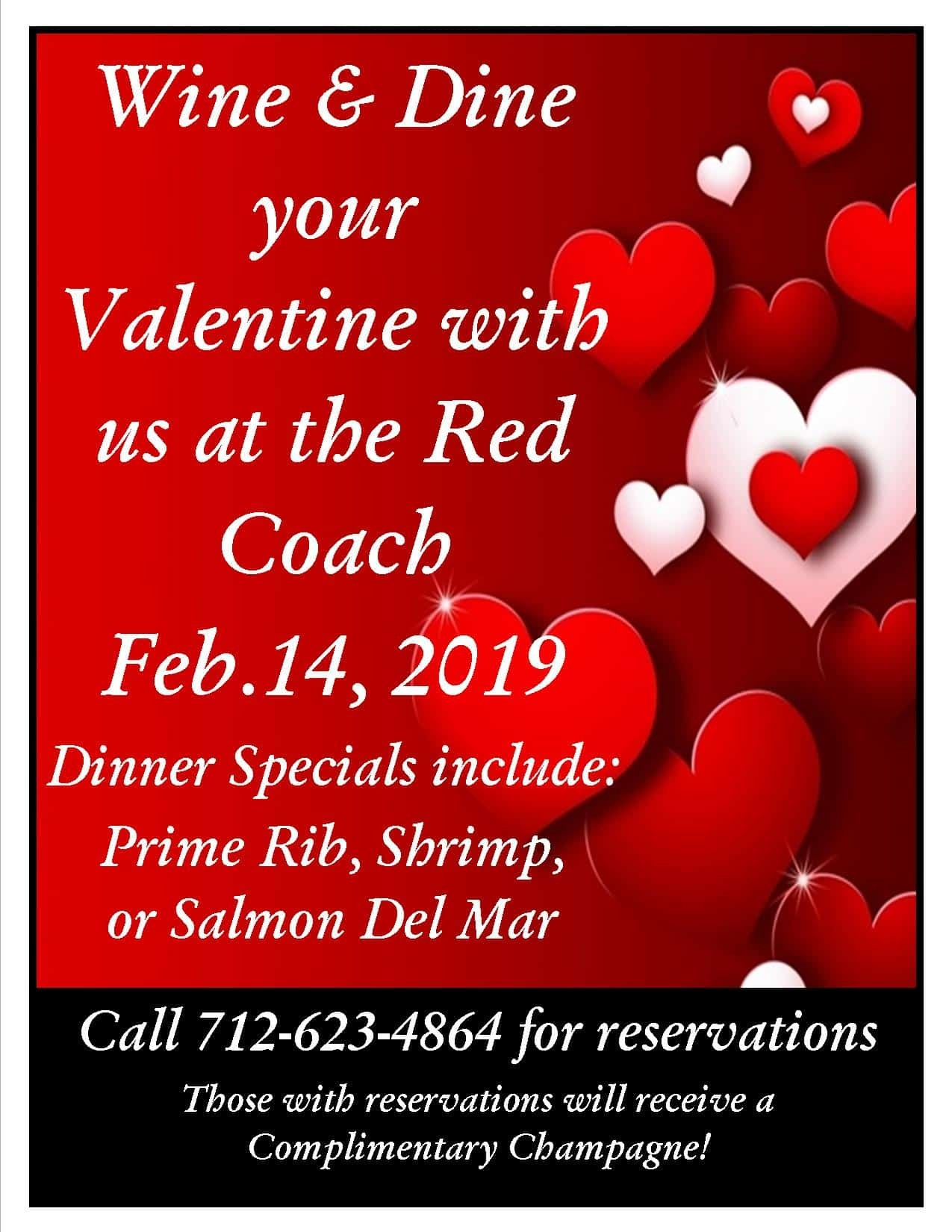 wine and dine your valentine