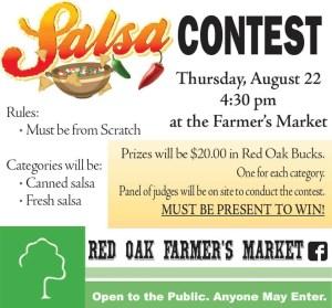 Red Oak Farmers Market: Salsa Contest