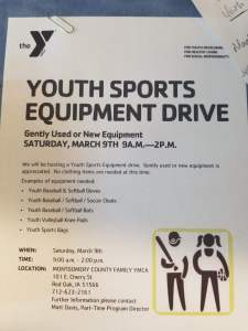 YMCA Equipment Drive