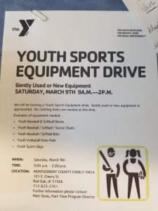 YMCA Equipment Drive
