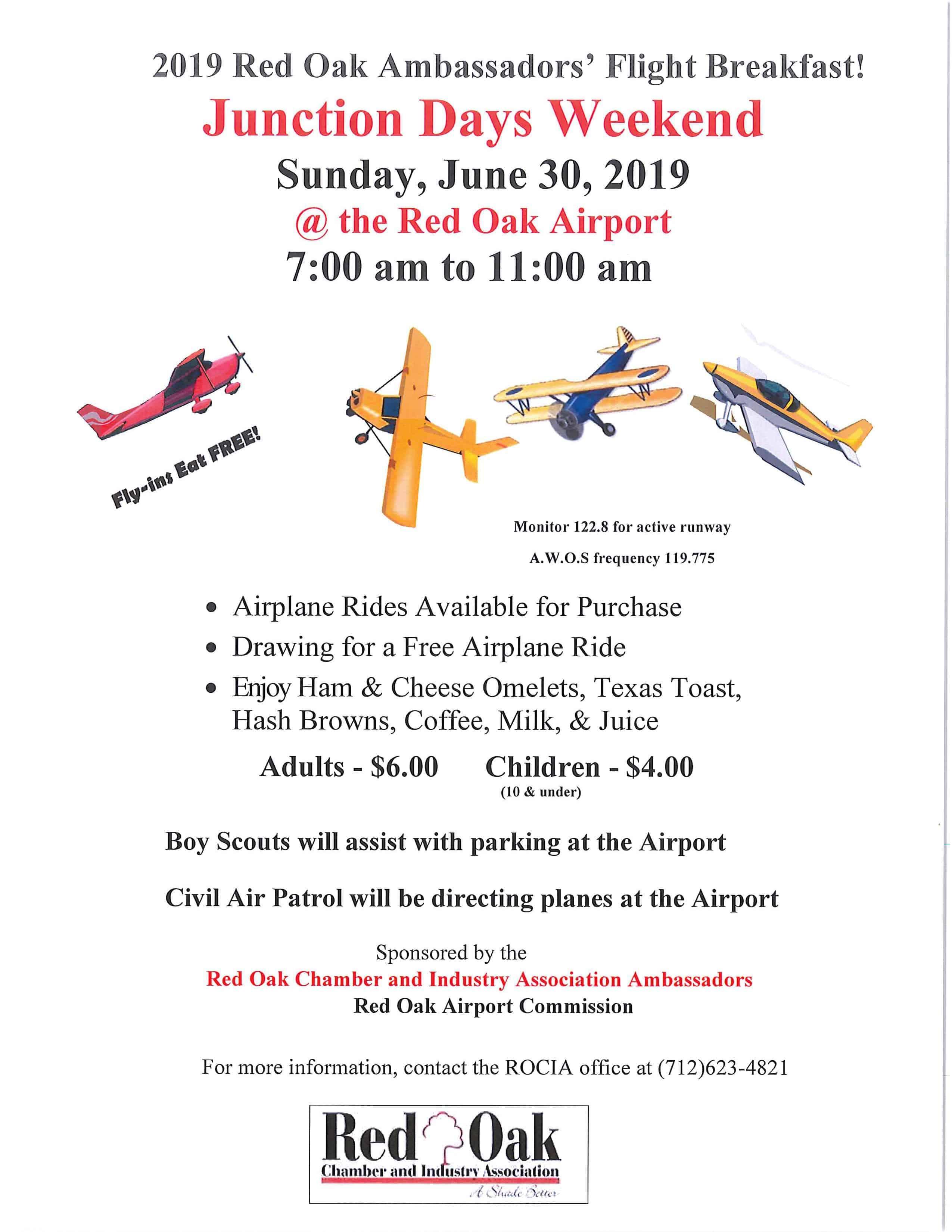 Red Oak Ambassadors' Flight Breakfast (Junction Days 2019