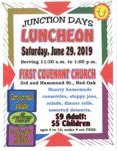First Covenant Church Junction Days Luncheon