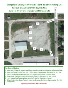 Red Oak Clean-up Day Map