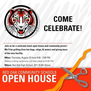 Red Oak Community Schools Ribbon Cutting Invitation