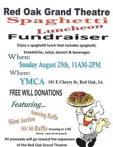 Red Oak Grand Theatre Spaghetti Luncheon Fundraiser