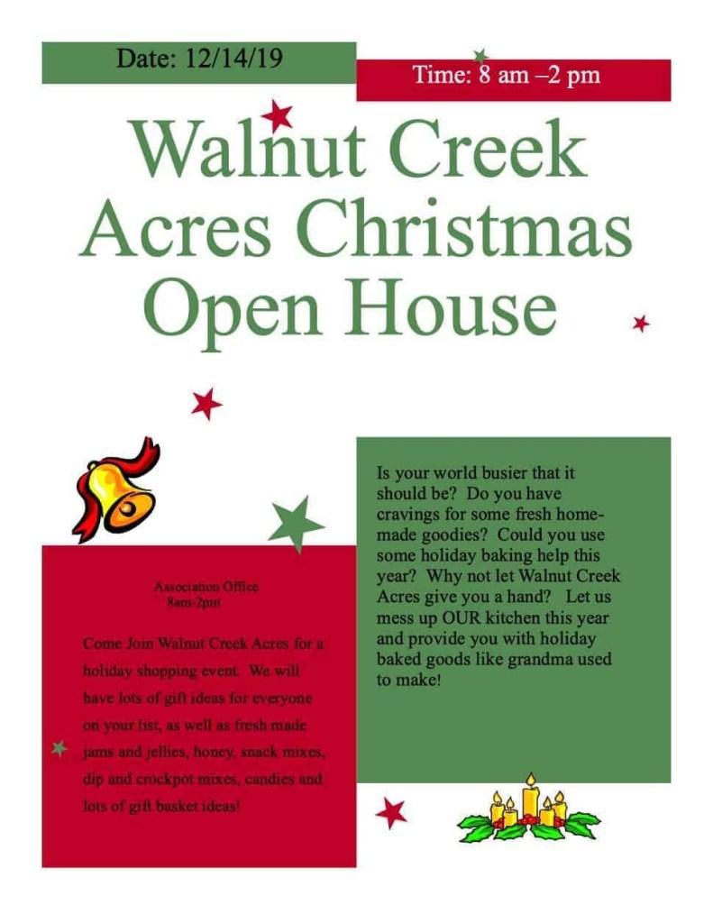 Walnut Creek Acres Open House
