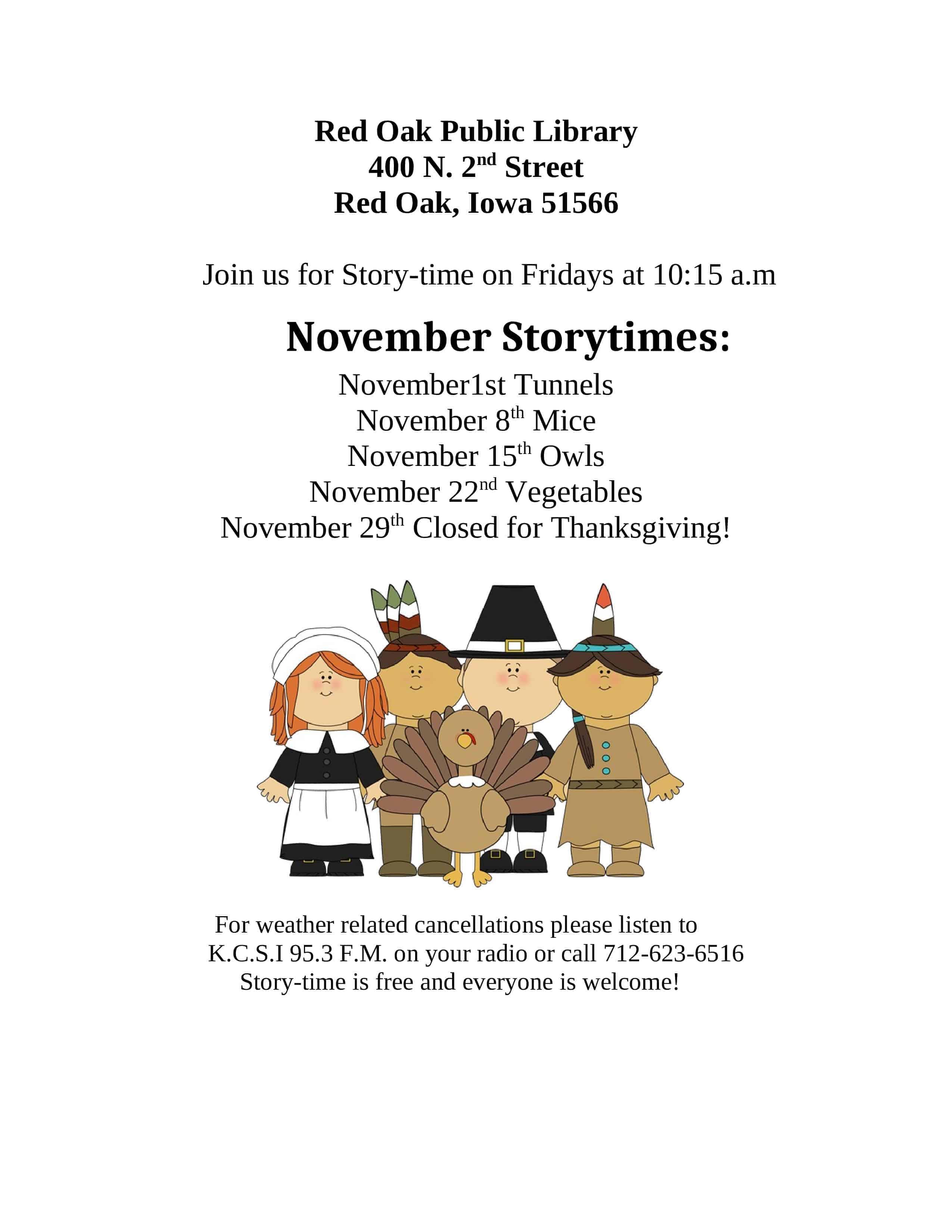November Storytime