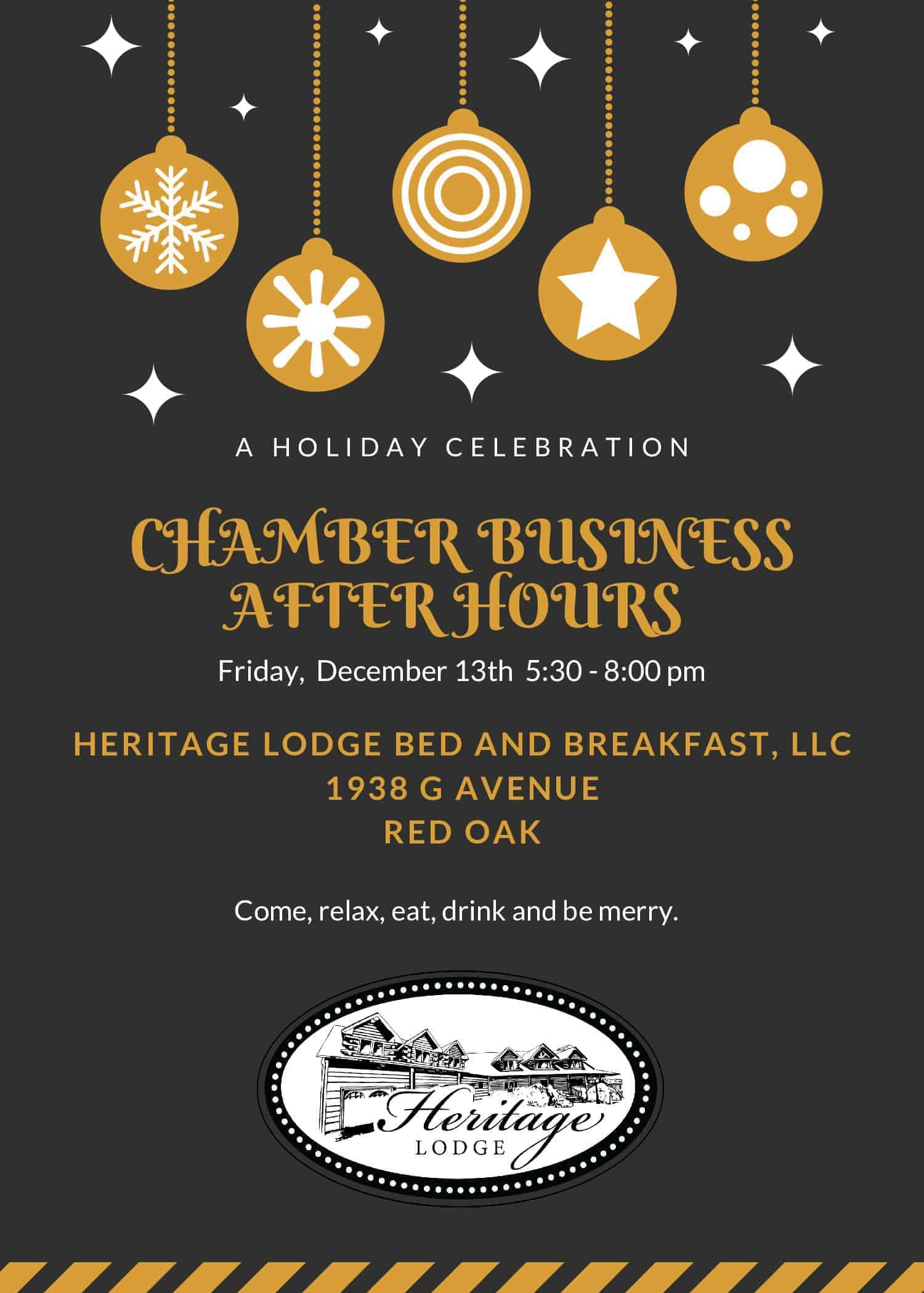 Business After Hours, Heritage Lodge