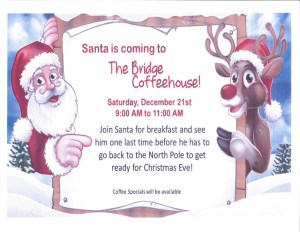 Santa at The Bridge Coffeehouse