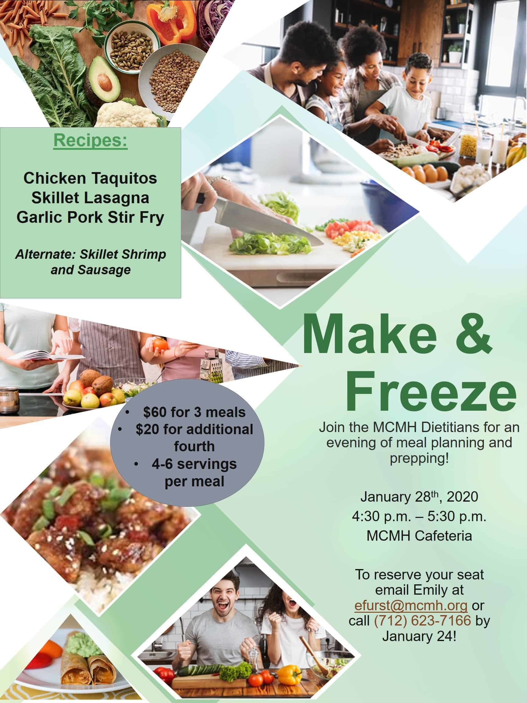 Make & Freeze Meal Planning