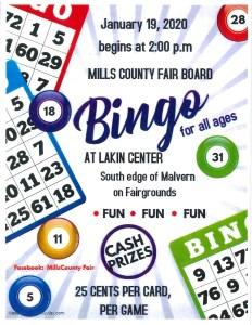 Mills County Fair Board Bingo