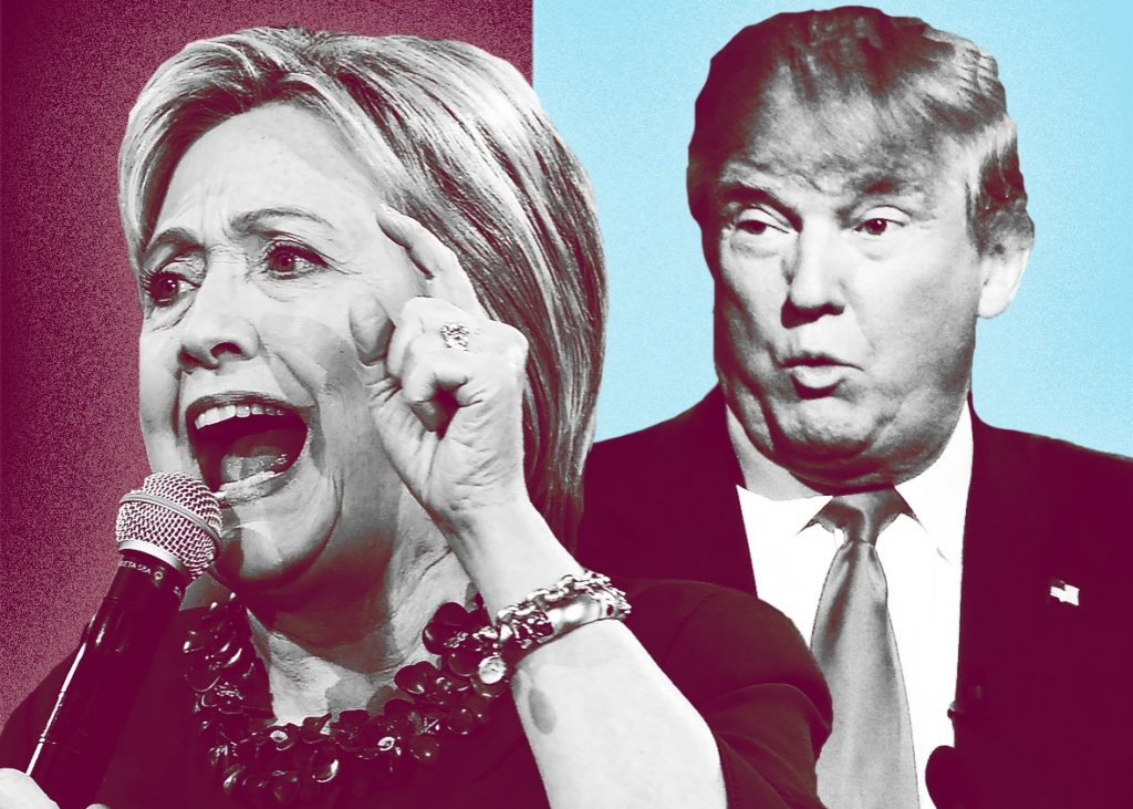 Trump Hillary Debate Gold & Silver Impact | by Sofya Levina. Photos by Jewel Samad/Getty Images and Rhona Wise/Getty Images