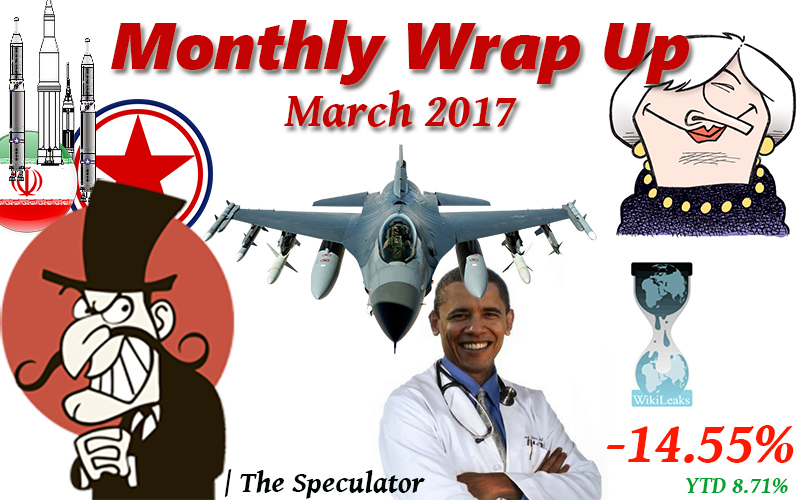 Speculator's Monthly Wrap Up – March 2017
