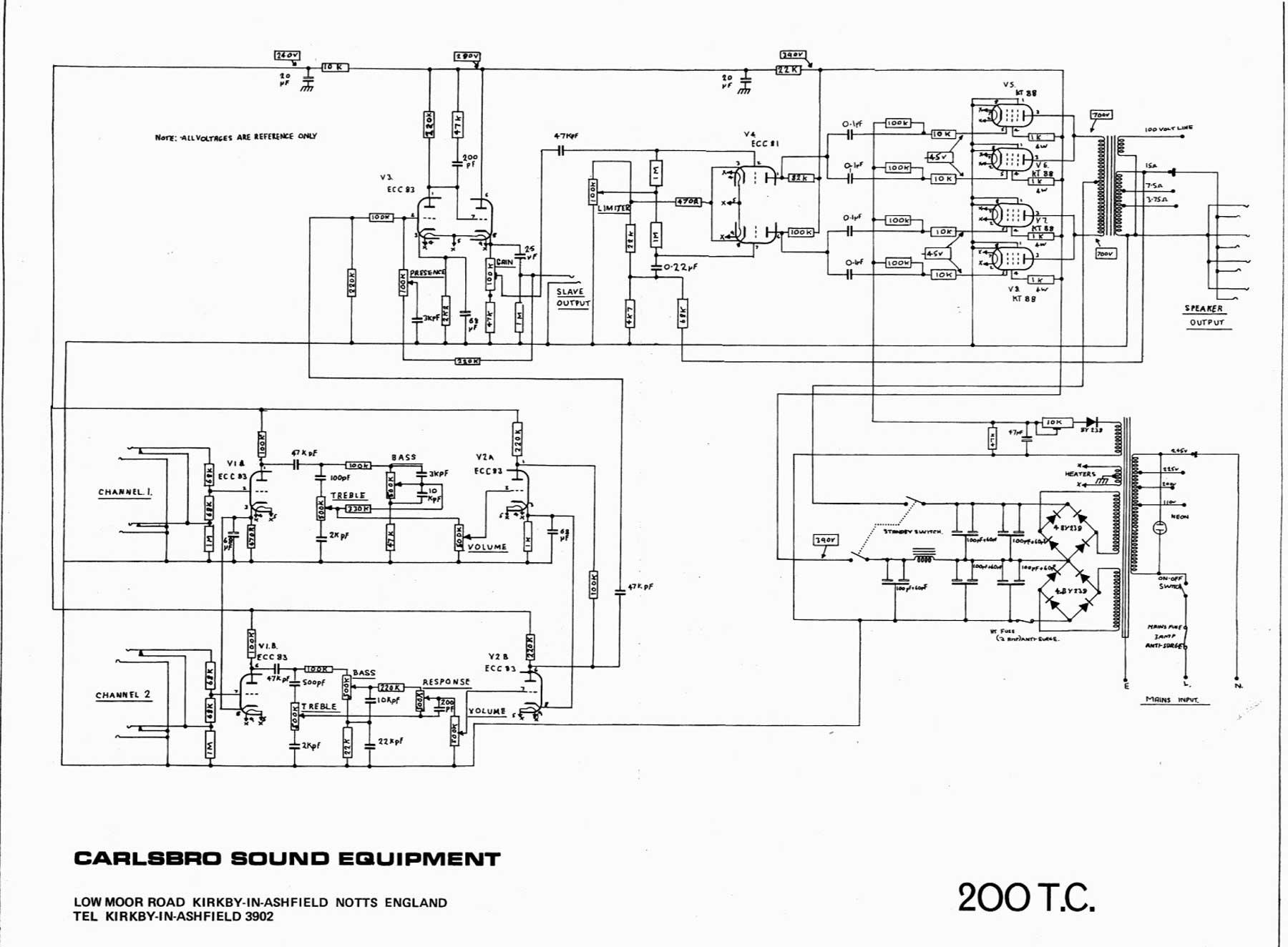 30 Amp Esc Wiring Diagram Carlsbro 200 T C Amp Schematic