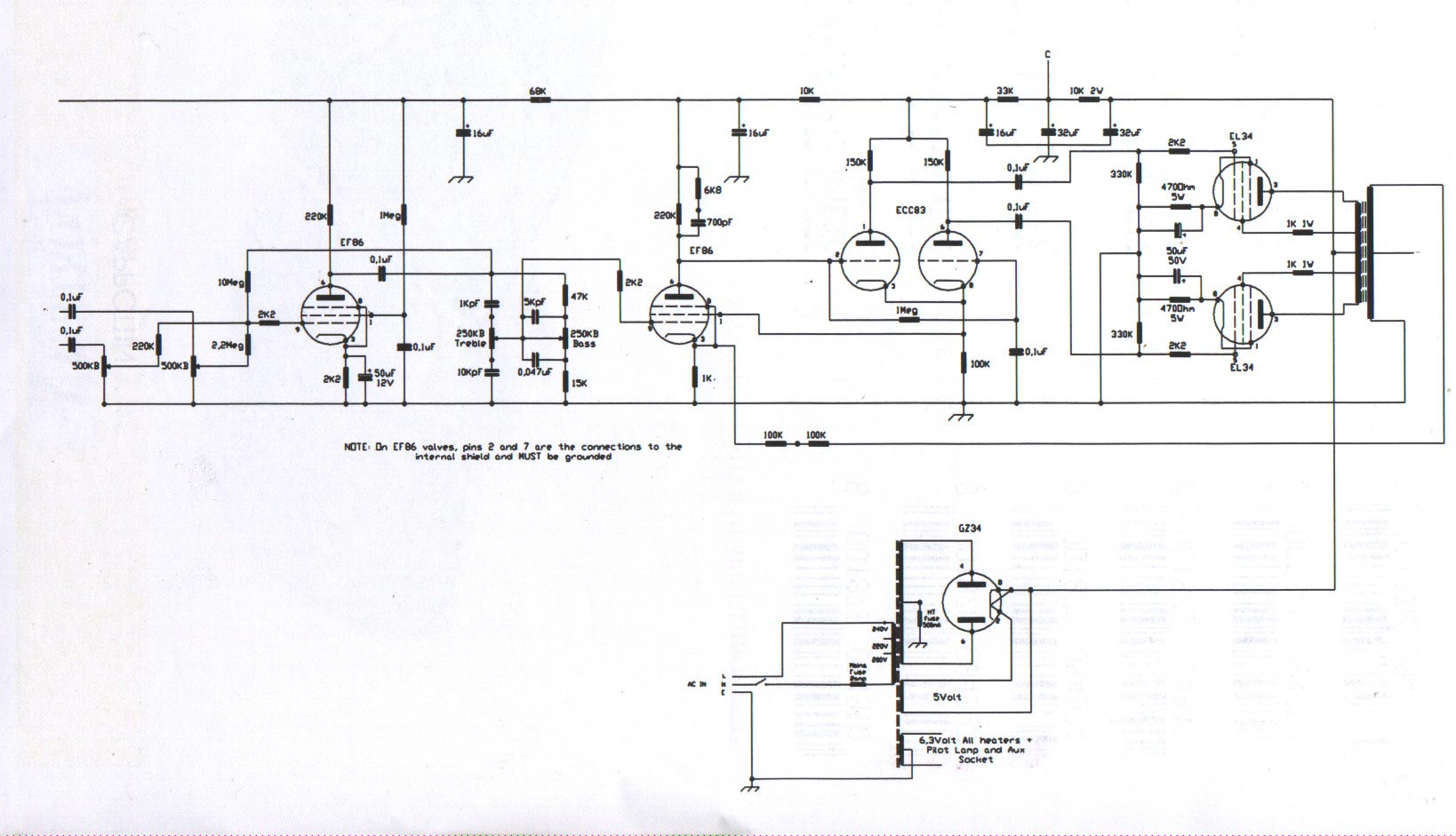 bass guitar wiring diagram klf220 linear conchord 30 & l50 schematic
