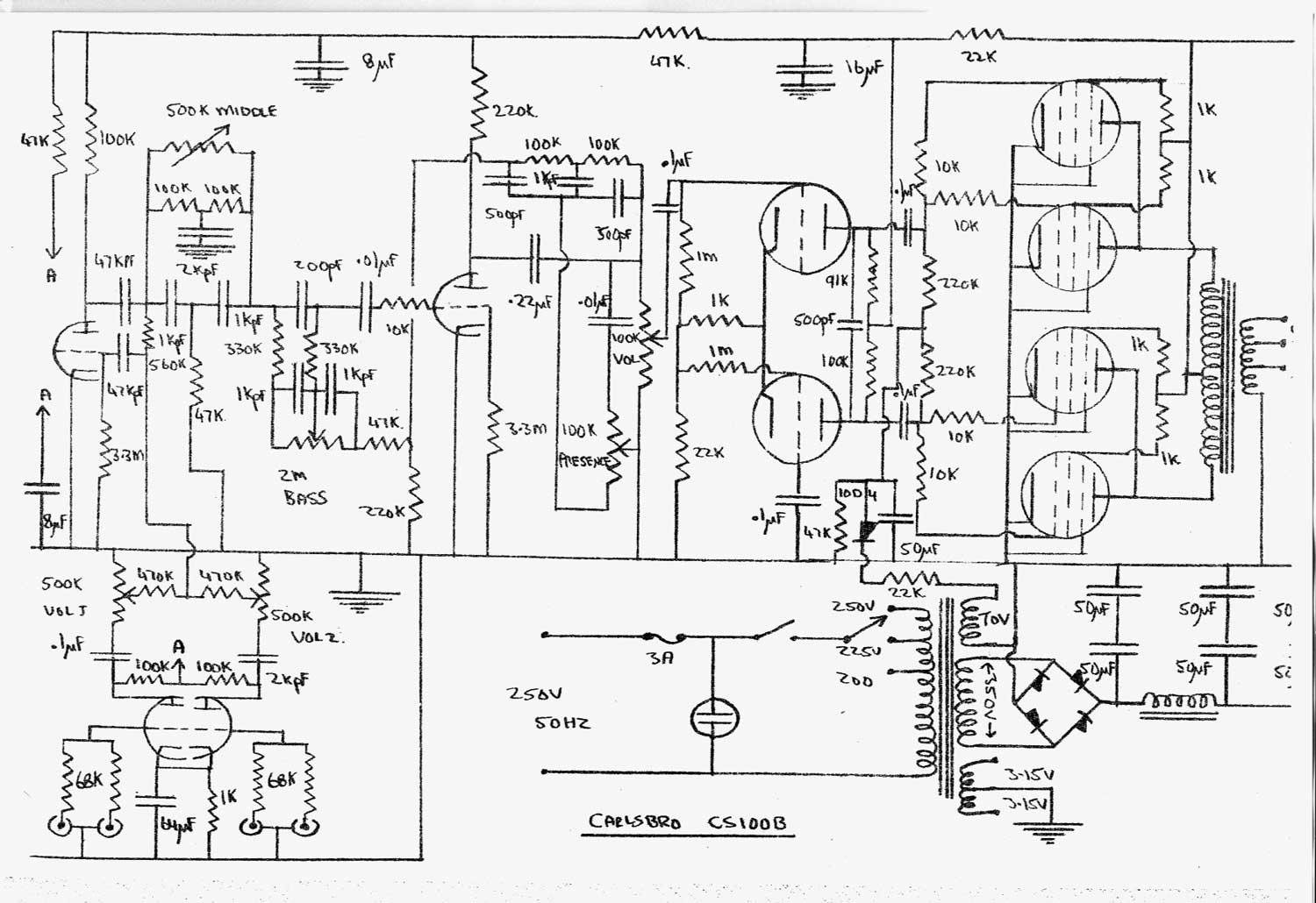 12au7 Amplifier Schematics