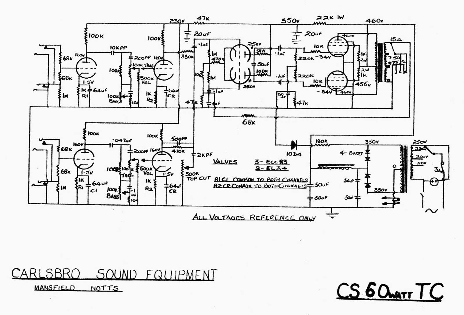 1000 Watt Audio Amplifier Circuit Diagrams Carlsbro Cs60 T C Amp Schematic
