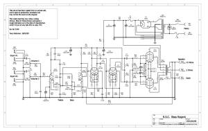 Linear RSC Bass Regent Schematic Diagram