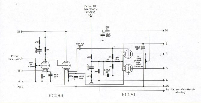 champ cba500 bass guitar amp  schematic diagram