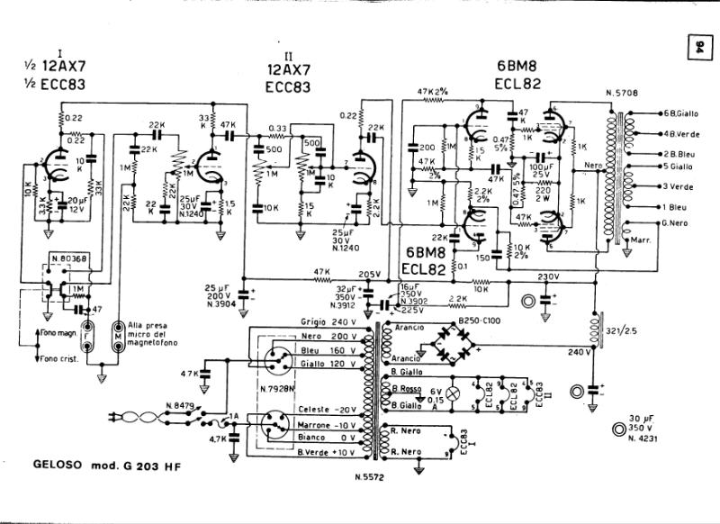Geloso G-203-HF Schematic Diagam