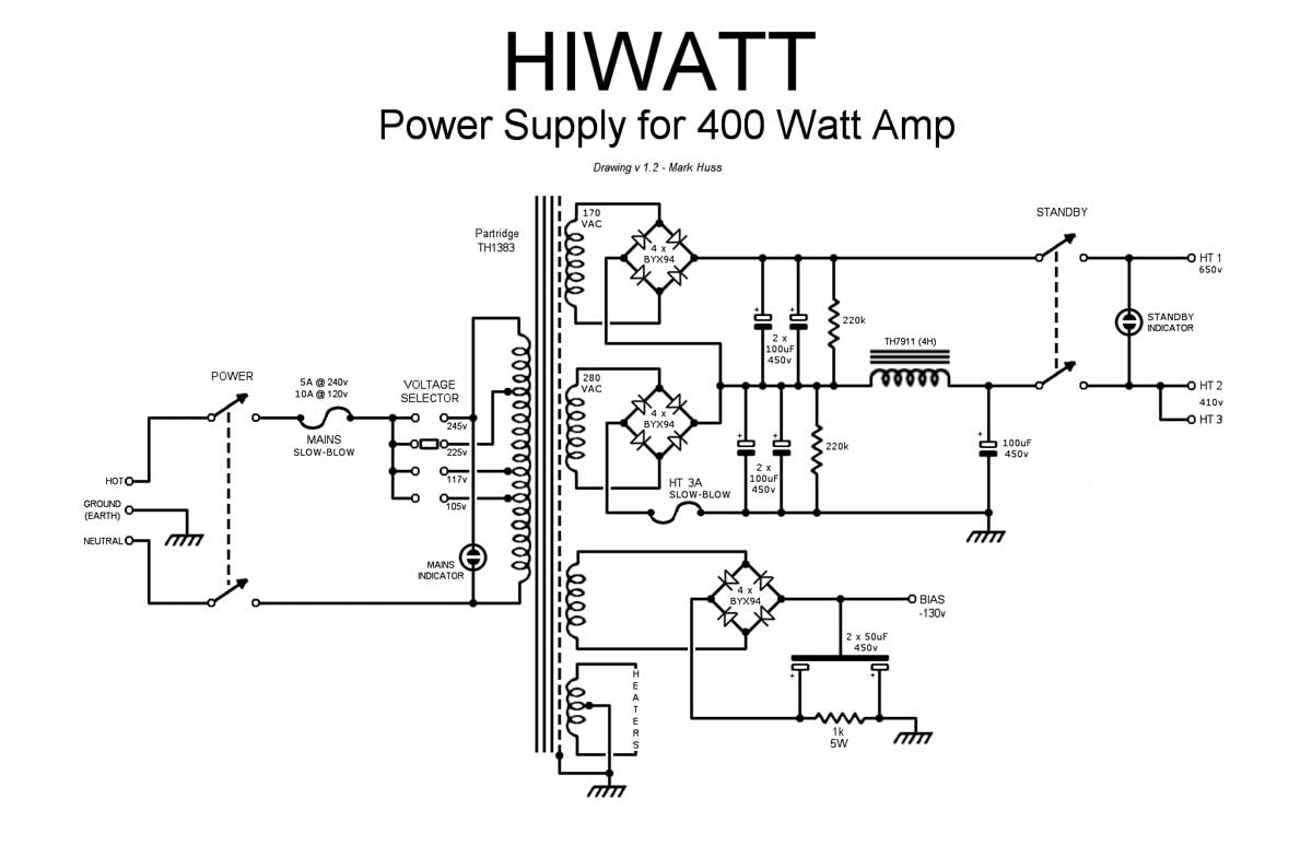 Servicing of a Hiwatt DR405 400 Watt (Clone Amplifier