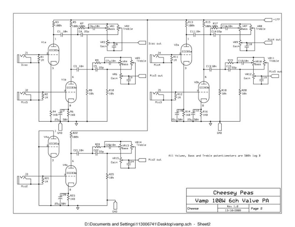 medium resolution of vampower 100 watt amplifier schematic diagrams 8 channel amp wiring diagram pa amp wiring diagram