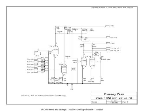 small resolution of vampower 100 watt amplifier schematic diagrams sub and amp wiring diagram pa amp wiring diagram