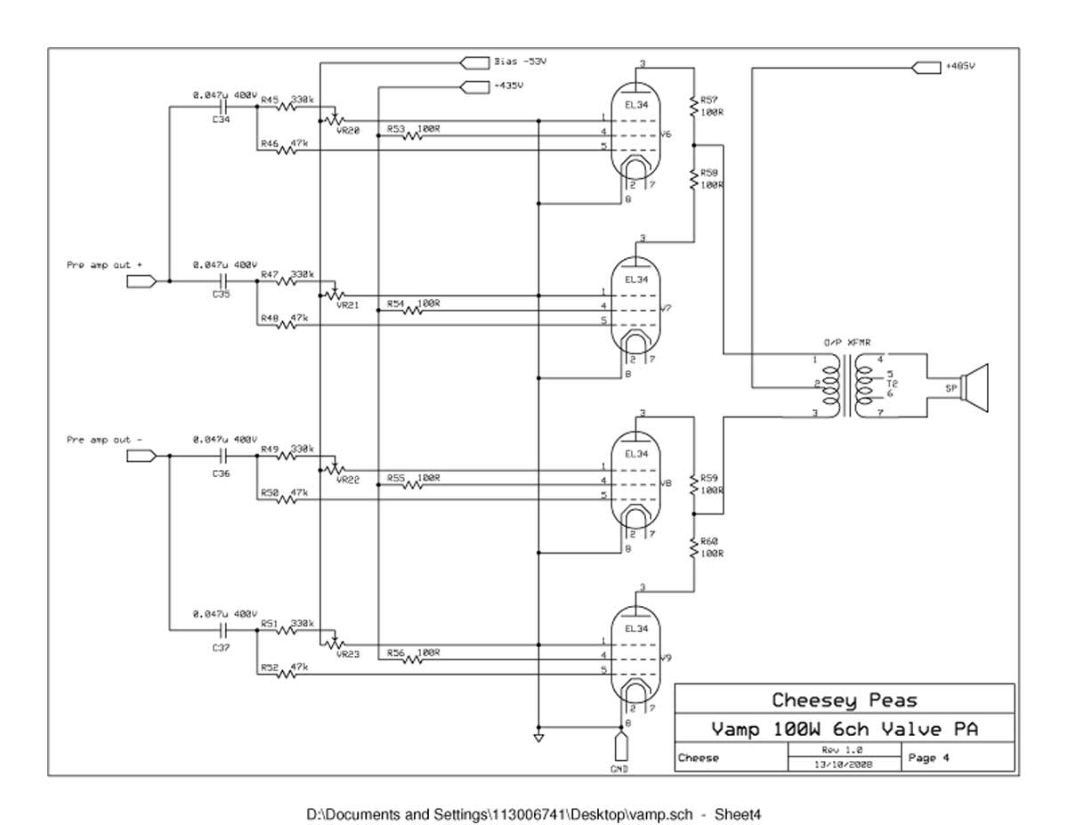 hight resolution of vampower 100 watt pa head schematic sheet four
